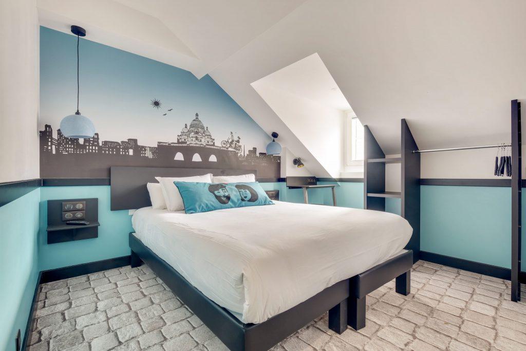 Hotel Lucien & Marinette - Chambre Double-Bleue 2