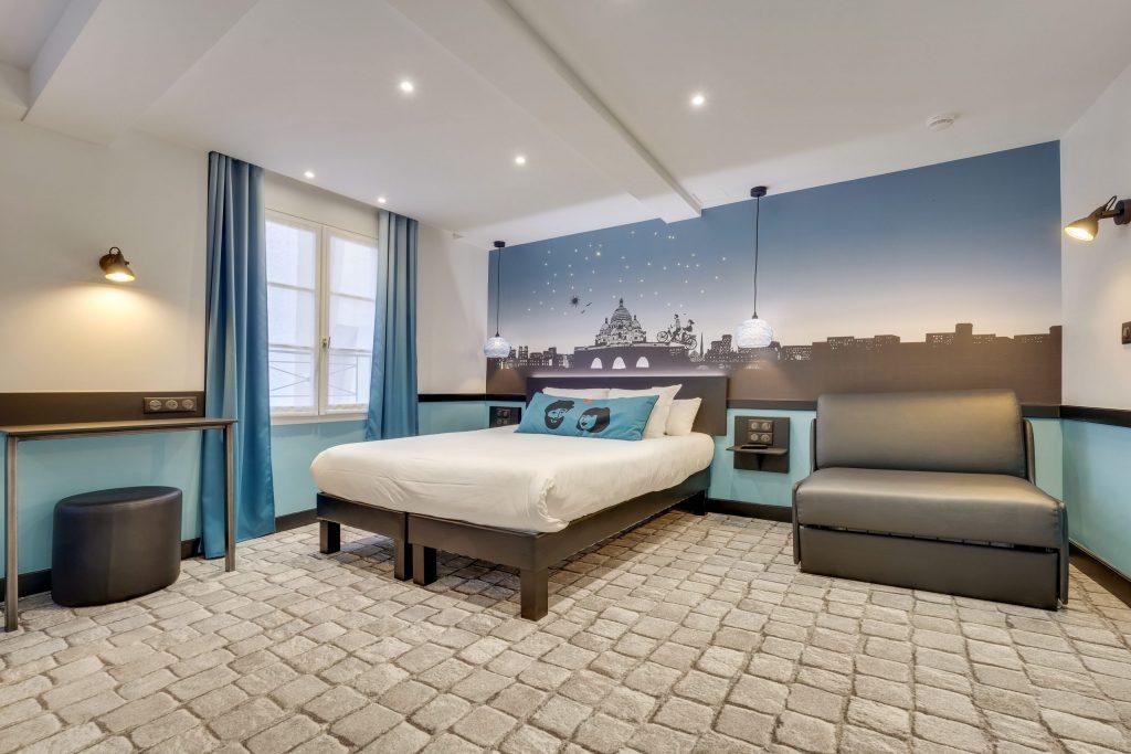 Hotel Lucien & Marinette - Chambre Triple-Bleue
