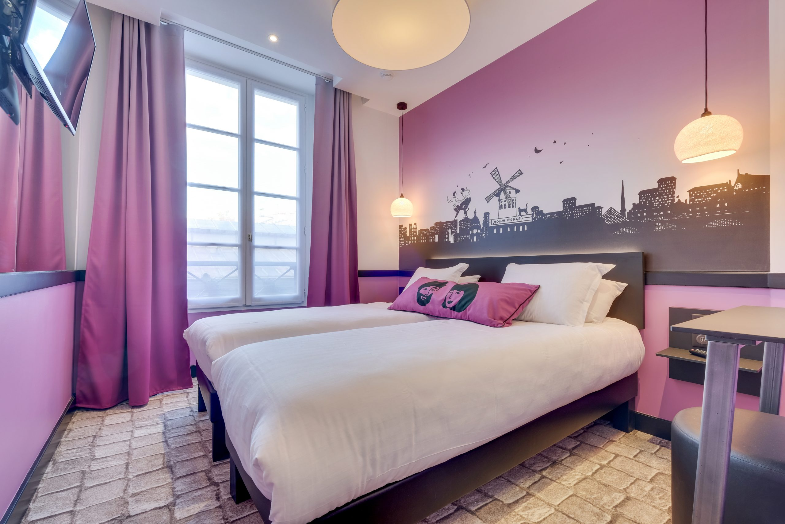 Hotel Lucien & Marinette - Chambre Twin Rose 2